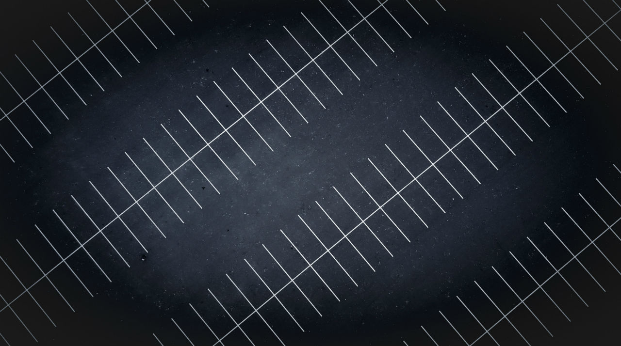 asphalt parking lot with white lines
